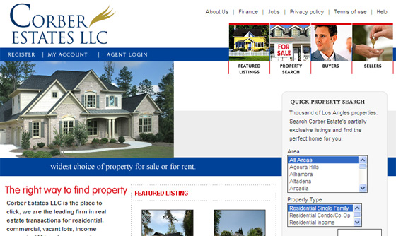 Real Estate Broker Website Development web positioning