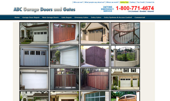 Garage Door Company Web Design